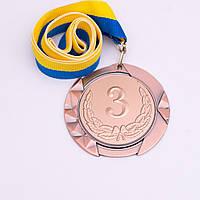 Медаль МА084 бронза с лентой