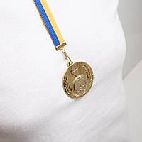 Медаль МА215 Золото с лентой.