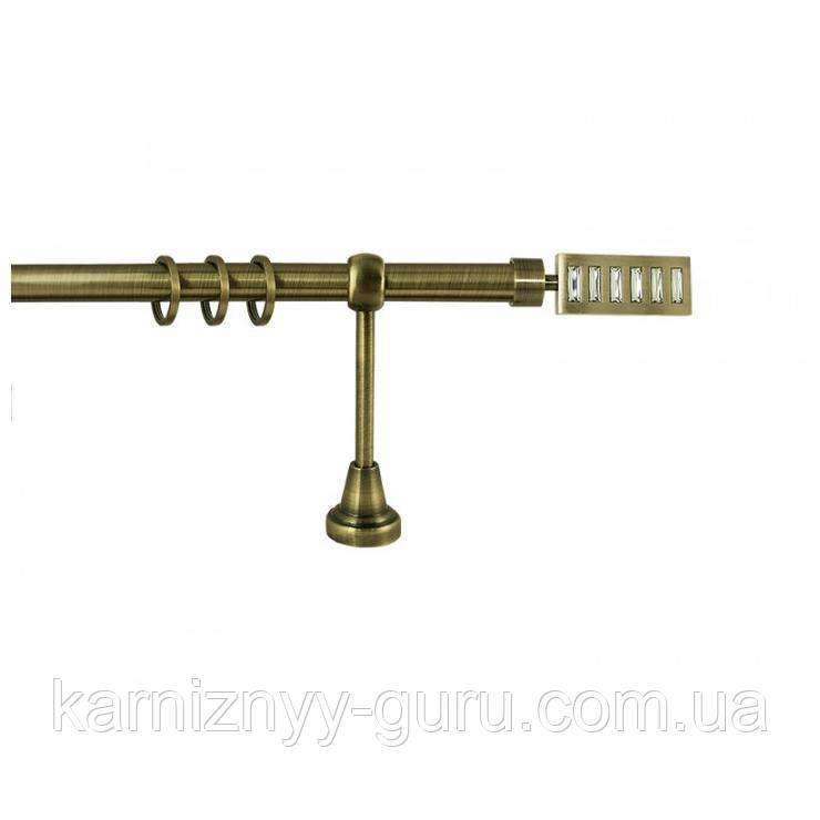Карниз для штор ø 19 мм, одинарный, наконечник Эскала