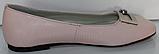 Балетки рожеві шкіряні від виробника модель КЛ2168, фото 3
