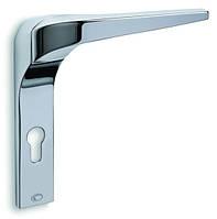 Ручка дверная CONVEX 2055 планка под цилиндр PZ цвет хром