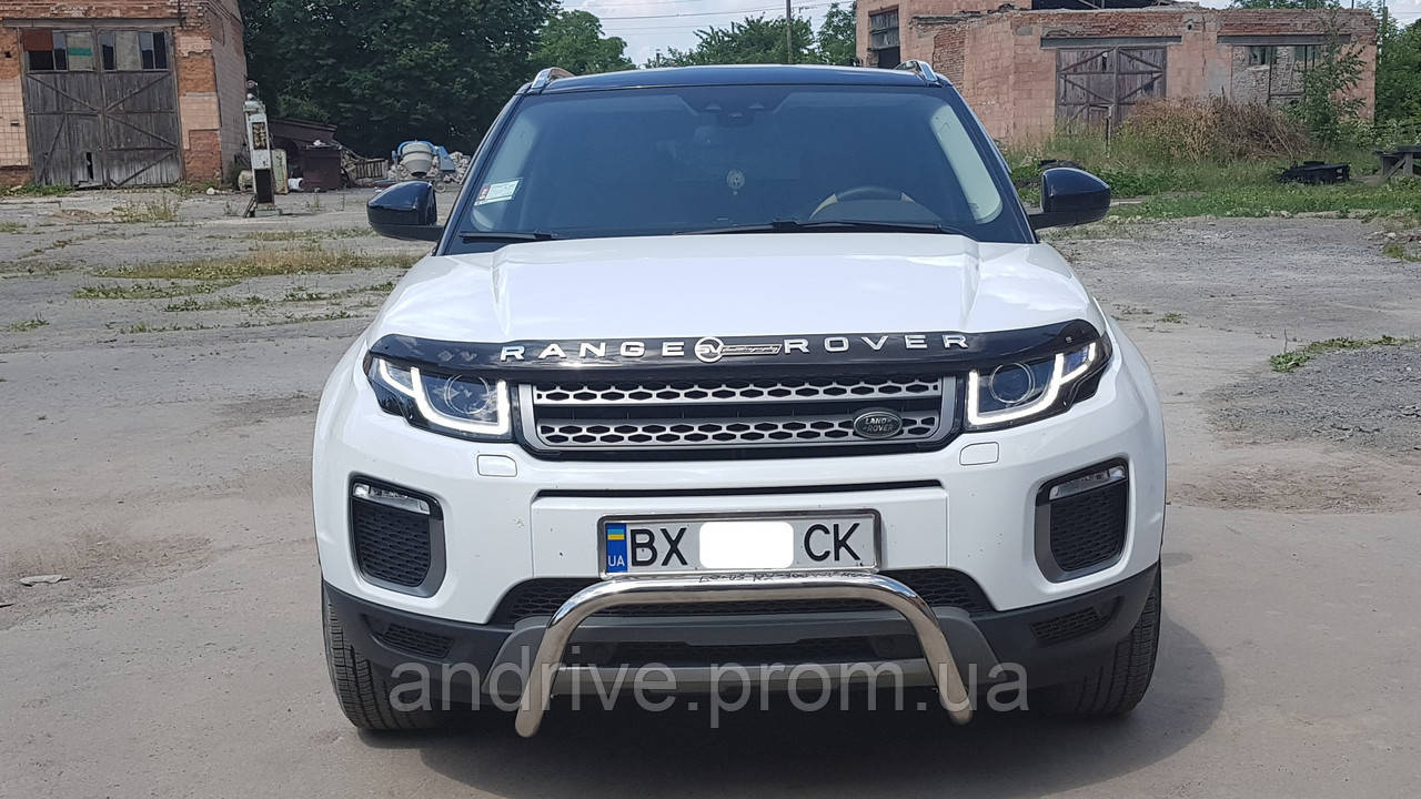Кенгурятник без гриля (захист переднього бампера) Land Rover Range Rover Evoque 2015+