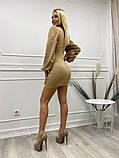 Шикарное платье с длинным рукавом из мягкого трикотажа, 4цвета , р-р. 42-44,44-46  Код 4022Ж, фото 2