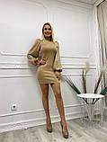 Шикарное платье с длинным рукавом из мягкого трикотажа, 4цвета , р-р. 42-44,44-46  Код 4022Ж, фото 3