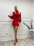 Шикарное платье с длинным рукавом из мягкого трикотажа, 4цвета , р-р. 42-44,44-46  Код 4022Ж, фото 5
