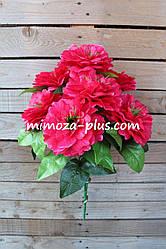 Искусственные цветы - Пион букет, 57 см