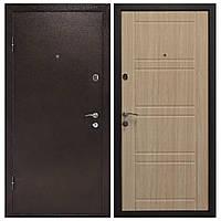 Дверь входная Министерство Дверей мет/мдф ПУ-09 Лиственница светлая 2050х960мм левая