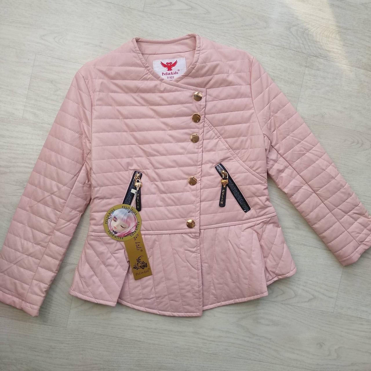 Куртка демисезонная для девочки ЭКОкожа р. 140, 158