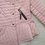 Куртка демисезонная для девочки ЭКОкожа р. 140, 158, фото 4