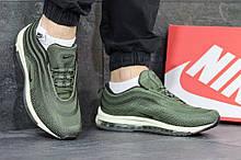 Мужские кроссовки сетка в стиле Nike Air Max 97 хаки