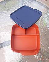 Ланч-бокс Школьник с разделителем (4,5*15*15 см) Tupperware оранжевый