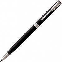Ручка Parker Шариковая SONNET 17 Slim Matte Black Lacquer CT BP (84 931) (3501179315256), фото 1