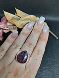 Рубин в породе цоизит кольцо капля с рубином 19,5 размер природный рубин в серебре Индия, фото 3