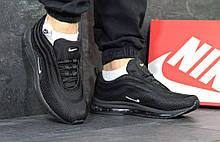 Мужские черные кроссовки сетка в стиле Nike Air Max 97