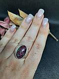 Рубин в породе цоизит кольцо овал с рубином 18,8 размер природный рубин в серебре Индия, фото 5