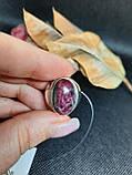 Рубин в породе цоизит кольцо овал с рубином 18,8 размер природный рубин в серебре Индия, фото 3