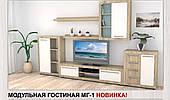 Модульная мебель гостиная Компанит МГ-1 цвет дсп дуб-сонома-комби наборная