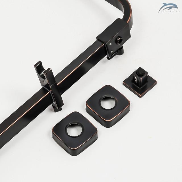 Телескопическая душевая штанга для душевой системы WEMI SBB-01 Retro укомплектована kfneyysv передвижным держателем для лейки ручного душа.