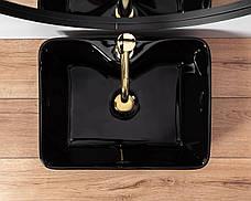 Умывальник (раковина) REA KELLY BLACK Черный накладной, фото 3