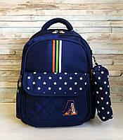 Ортопедический детский рюкзак с пеналом, портфель школьный для мальчика 7 - 8 лет