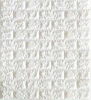 3D панель, обои, Самоклеящаяся, Sticker Wall, 70 x 77 x 0,7 см, Белый кирпич SKL33-159348
