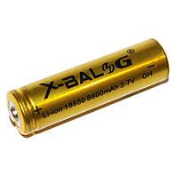 Аккумуляторная Батарейка Li-Ion XBalong 4.2V 18650 (Gold) емкость 8800, фото 1