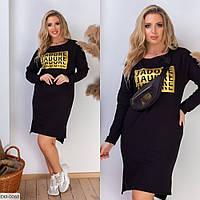 """Сукня жіноча прямого крою мод. 282 (42-44, 44-46) """"AFINA"""" недорого від прямого постачальника"""