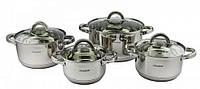 Набор посуды кастрюли из 8 предметов (нержавейка) VC-3030 Vincent
