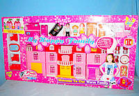 Кукольный дом 168 с куклами,мебелью,батар.муз.свет.