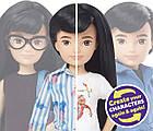 Лялька Створюваний світ Чорне пряме волосся Creatable World Deluxe Character Kit Customizable, фото 5