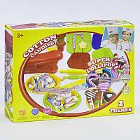 """Тесто для лепки 8325 (12) """"Конфеты"""", 10 баночек теста, аксессуары, фартук, в коробке"""