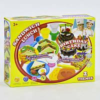 """Тесто для лепки 8328 (12) """"Сендвич-Ланч"""", 10 баночек теста, аксессуары, колпак, в коробке"""
