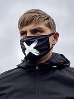 Маска защитная XX Off-White Черный с рисунком (ин-20-0004)