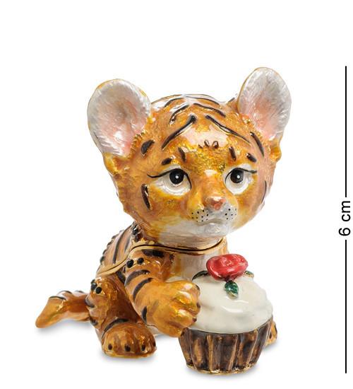 Шкатулка для украшений NOBILITI  Тигренок с кексом 6 см 1601603