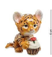 Шкатулка для украшений NOBILITI  Тигренок с кексом 6 см 1601603, фото 1