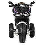 Дитячий мотоцикл трицикл M 4053L 2 мотора, Чорний, фото 2