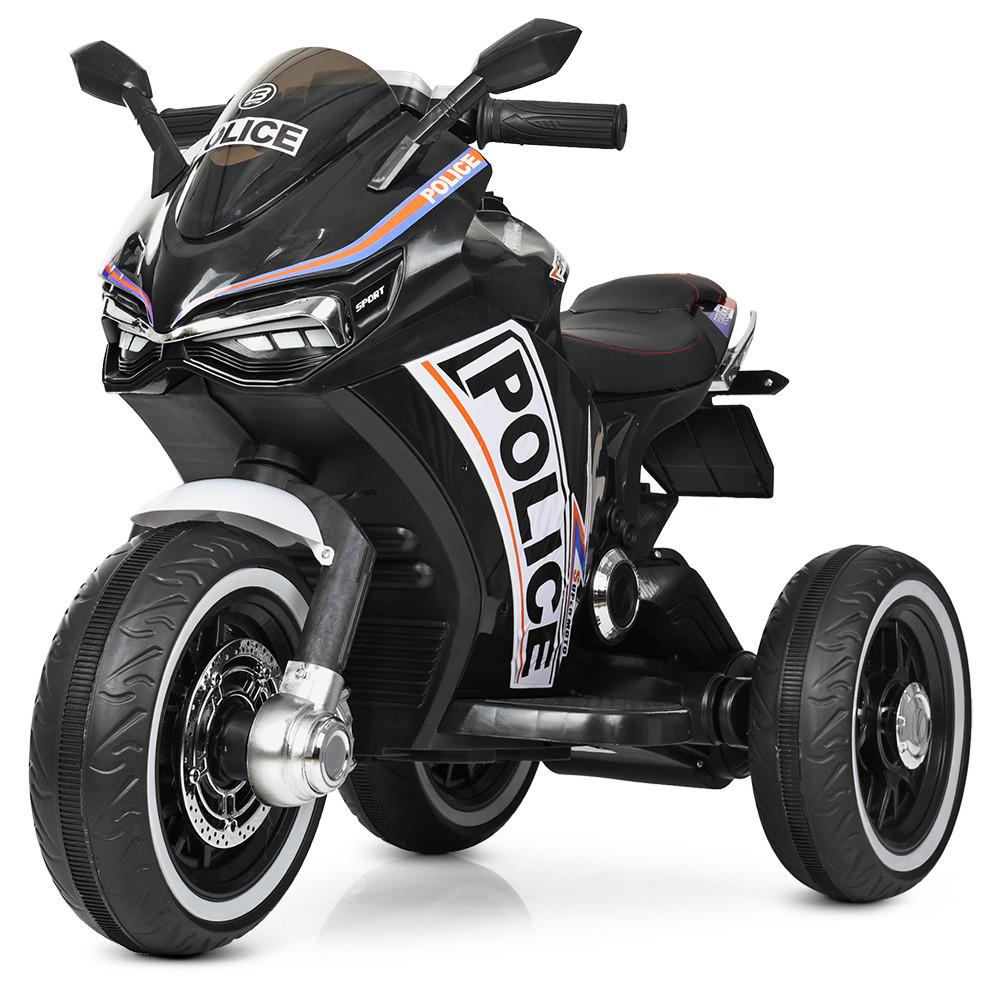 Дитячий мотоцикл трицикл M 4053L 2 мотора, Чорний