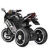 Дитячий мотоцикл трицикл M 4053L 2 мотора, Чорний, фото 4