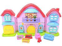 Кукольный дом с музыкальным эффектом и куклами