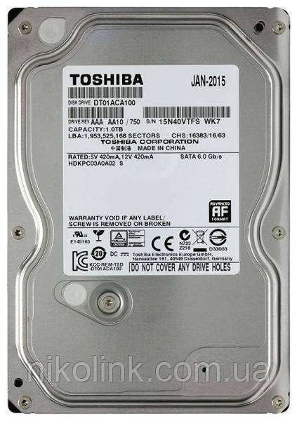 "Жесткий диск 500GB Toshiba 7200rpm 32MB 3.5"" SATA III (DT01ACA050), б/у"