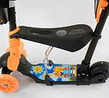 Самокат беговел scooter с родительской ручкой 5в1 черный Best Scooter 78266, фото 5