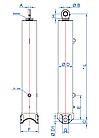 Телескопический цилиндр OK-4-5800-155-BR Hydrotip/RP Techniek, фото 2
