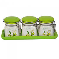 Набор банок для сыпучих продуктов Flowers SKL11-209695