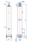 Телескопічний циліндр OK-5-5725-155-BR Hydrotip/RP Techniek, фото 2