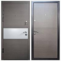 Дверь входная Министерство Дверей мдф/мдф ПО-150 М Алюкобонд/венге горизонт серый 2050х960мм левая