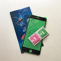"""Гибкое ультратонкое черное защитное стекло  Ceramics для Apple iPhone 6/6s plus (5.5"""")"""