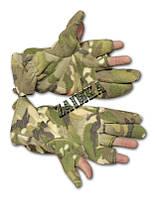 Перчатки из полар-флиса с откидной варежкой Multicam,мультикам.