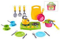 Детский кухонноый набор посуды ТЕХНОК №8 (2407)