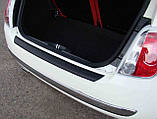Пластиковая защитная накладка на задний бампер для Fiat 500 10.2007-6.2015, фото 3