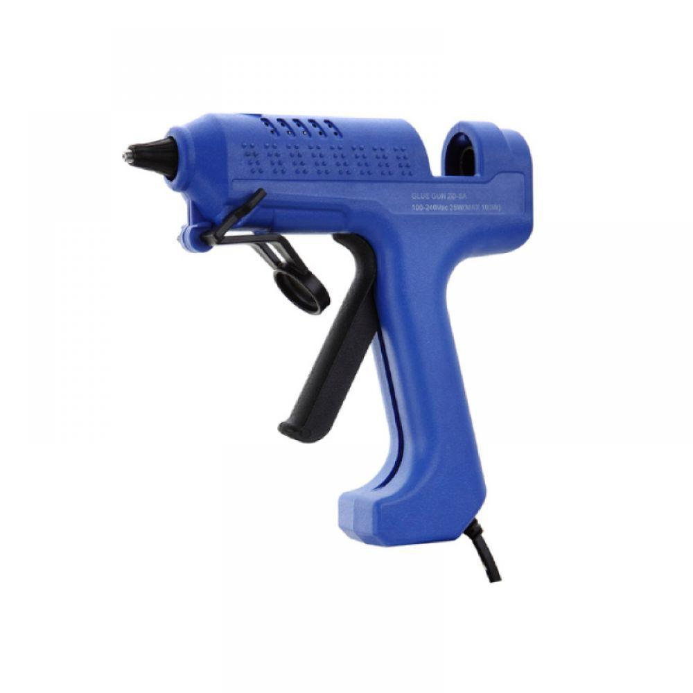 Пистолет клеевой  ZD-8B с кнопкой, под клей 11мм, 40Вт(Max150Вт), в блистере (12-0211)